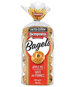Dempster's® Apple Pie Flavoured Bagels