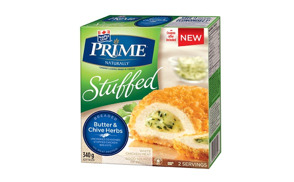 MAPLE LEAF PRIME® STUFFED BREADED – BUTTER & CHIVE HERBS