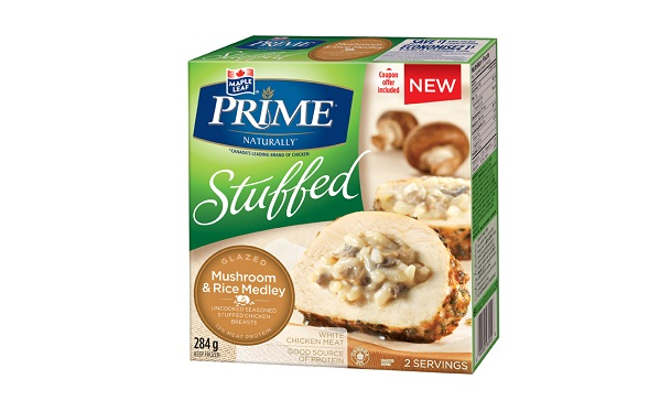 MAPLE LEAF PRIME® STUFFED GLAZED - MUSHROOM & RICE MEDLEY
