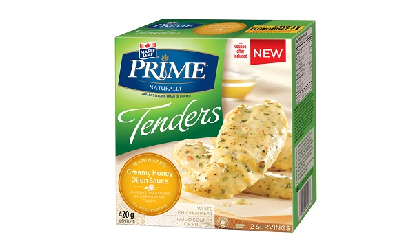 MAPLE LEAF PRIME® TENDERS MARINATED – CREAMY HONEY DIJON SAUCE