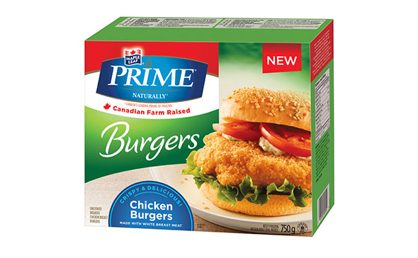Maple Leaf Prime® Naturally Chicken Burgers