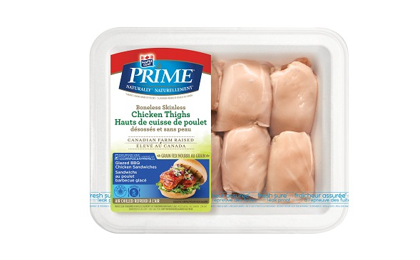 Maple Leaf Prime® Naturally®* Boneless Skinless Chicken Thighs