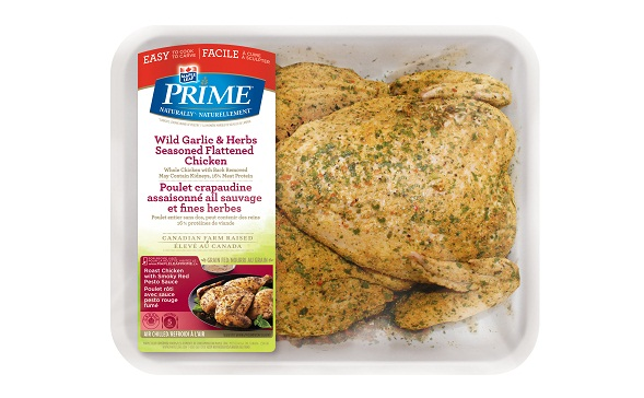 Maple Leaf Prime® Seasoned Flattened Chicken - Wild Garlic & Herbs