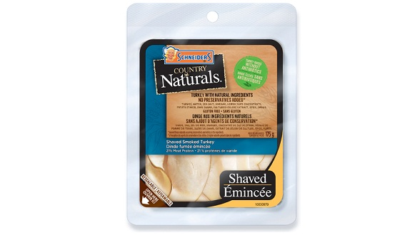 Schneiders Country Naturals Shaved Smoked Turkey