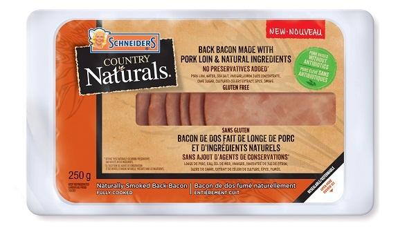 Schneiders Country Naturals Canadian Back Bacon
