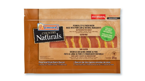 Schneiders Country Naturals Peameal Style Back Bacon