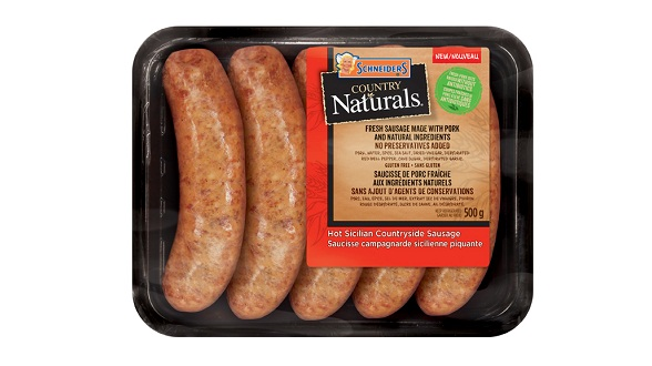 Schneiders Country Naturals Hot Sicilian Countryside Sausage