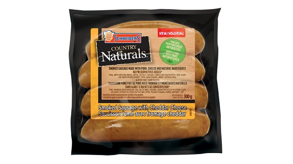 Schneiders Country Naturals Smoked Sausages with Cheddar Cheese