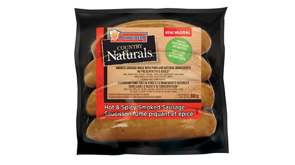 Schneiders Country Naturals Hot & Spicy Smoked Sausages