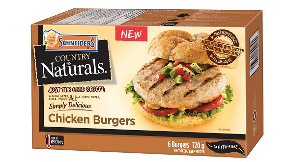 Schneiders Country Naturals Chicken Burgers